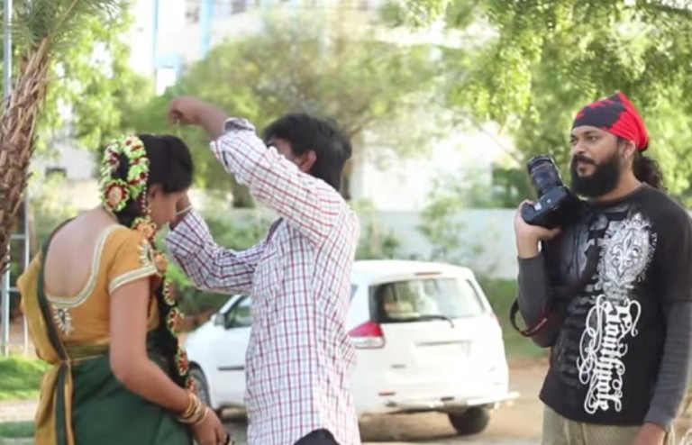 Pelli Poola Jada Shoot Behind the scenes