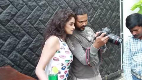 Asmitha Sood  photo shoot Behind the scenes